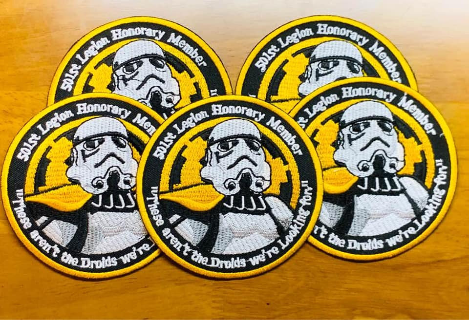 200% embroidered high quality embroidered patch black, yellow and gray threads with stitched border