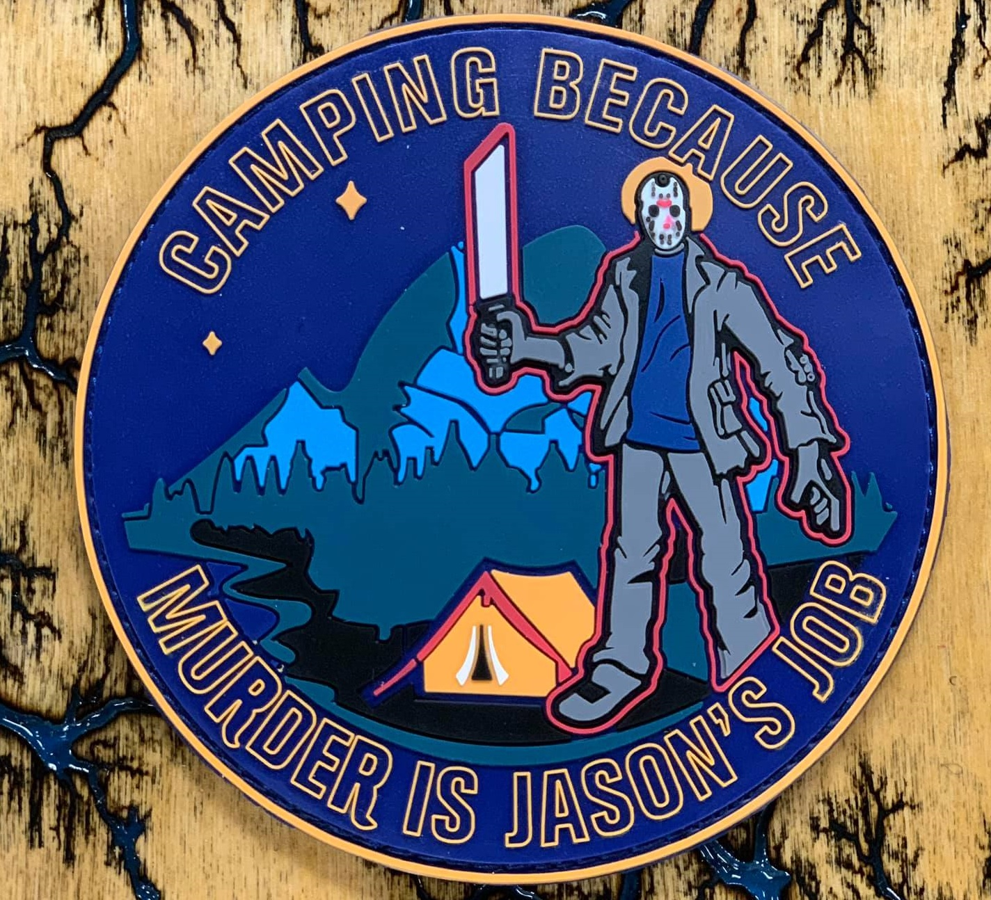 Custom PVC patch made for a camping group